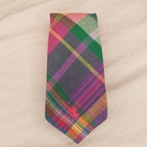 Men's Ralph Lauren Neck Tie Pastel Plaid
